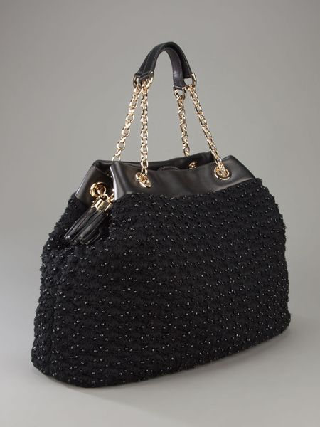 dolce gabbana crochet bag in black lyst