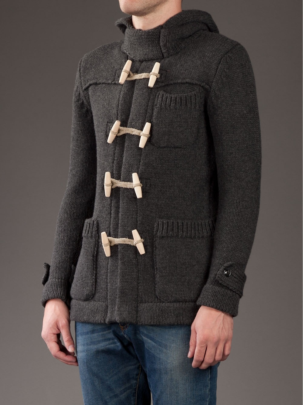Esemplare Hooded Jacket in Grey (Grey) for Men