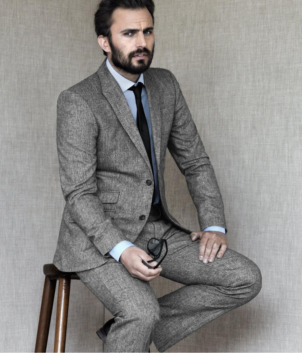 modern tweed blazer