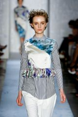 Suno Spring 2012 Long-Sleeve Multicolour Printed Shirt-Top