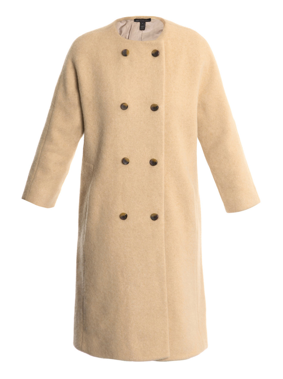 Marc by marc jacobs camel wool and angora collarless coat product 1 1959182 671514970