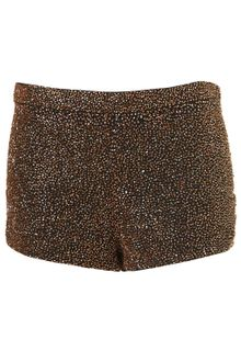 Topshop Premium Beaded Shorts - Lyst