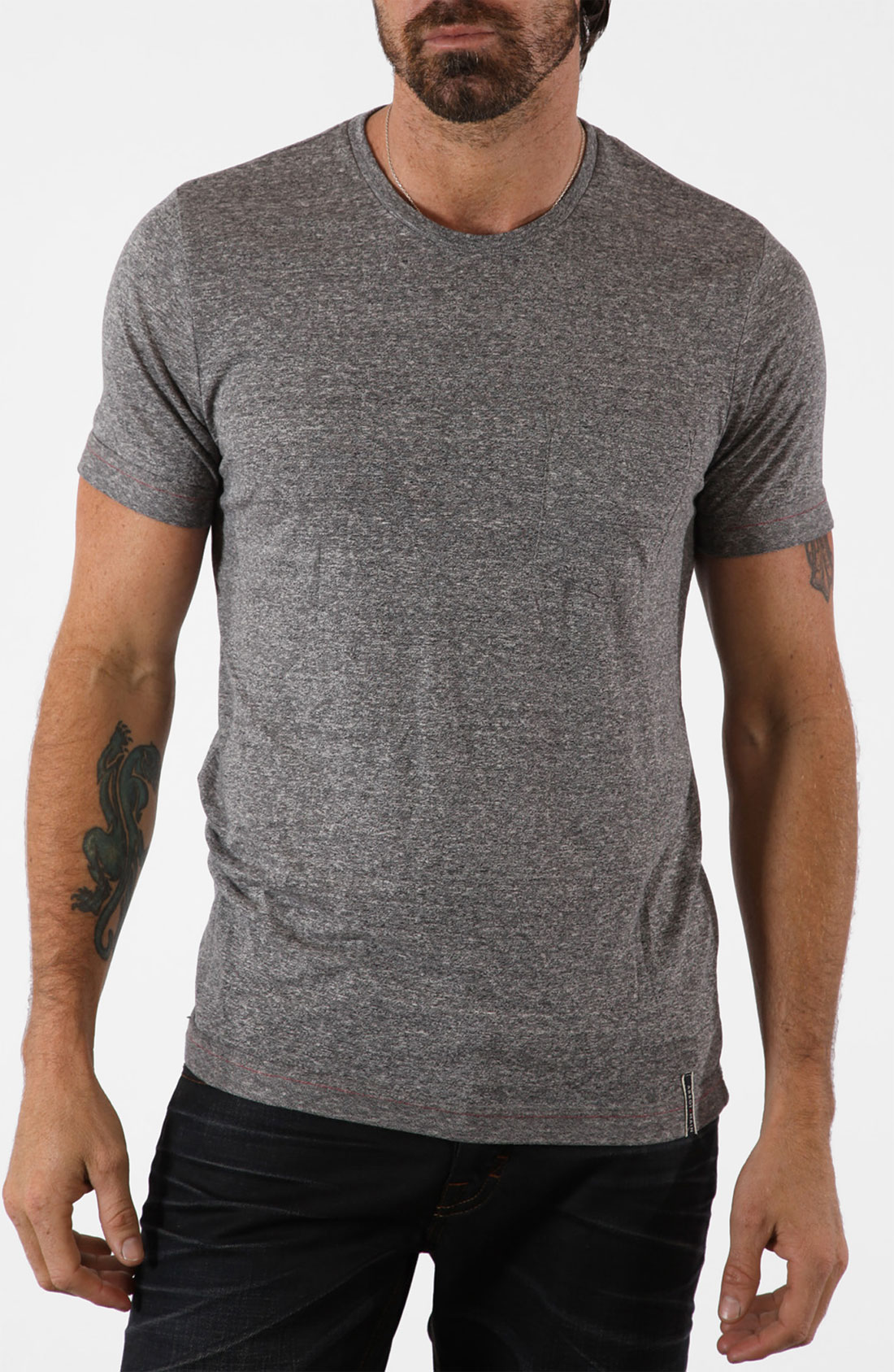 Well the Hanes Shirts: T OXF Men's Oxford Grey Cotton T-Shirt is