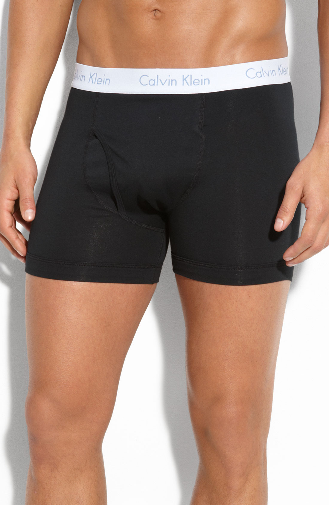 calvin klein flexfit boxer briefs in black for men lyst. Black Bedroom Furniture Sets. Home Design Ideas