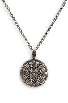 Cara Accessories Crystal Detail Statement Pendant Necklace - Lyst