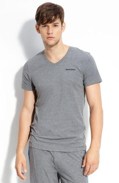 Diesel Trim Fit V-neck T-shirt in Gray for Men (stone ...
