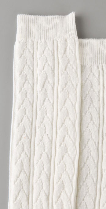 Falke Striggings Cable Knit Knee High Socks In White Lyst