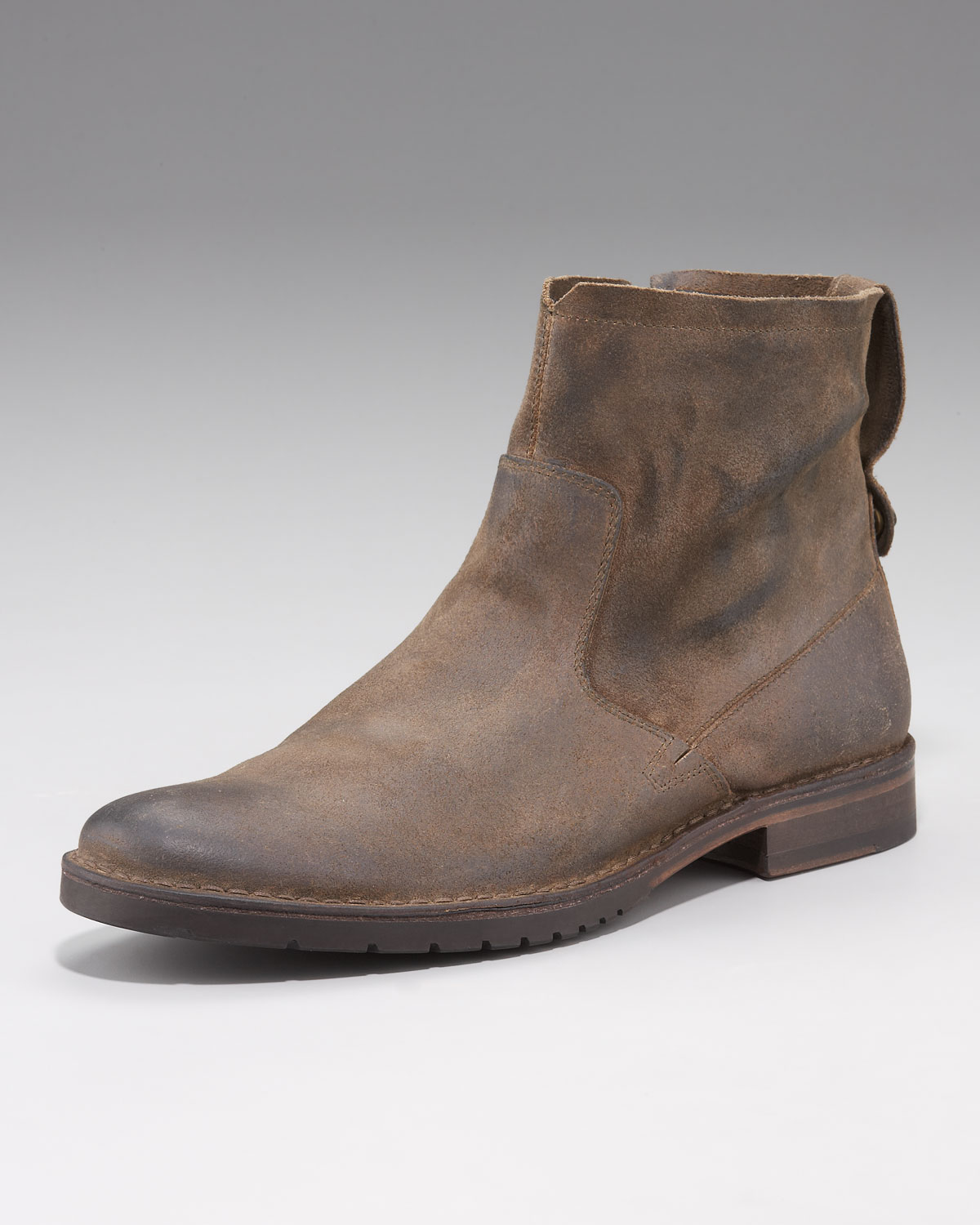 varvatos driggs suede boot in brown for clay lyst