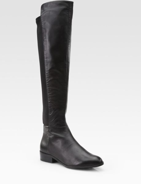 michael michael kors bromley leather knee high stretch