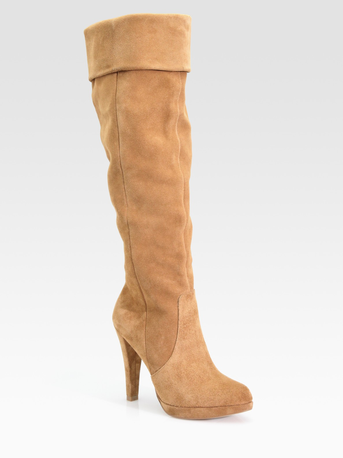 michael by michael kors adena sport suede slouch knee high
