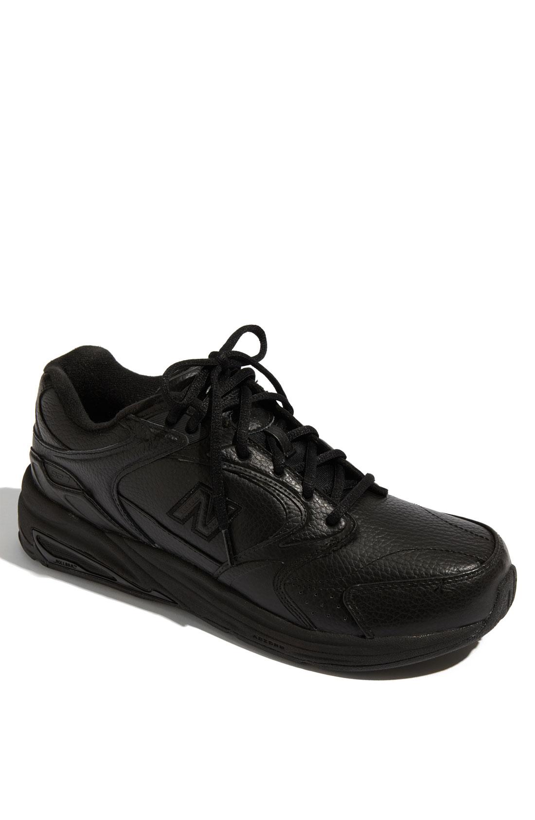 new balance 927 walking shoe in black for lyst