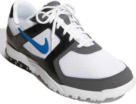 Nike Air Range Wp Golf Shoes White Blue Spark Black