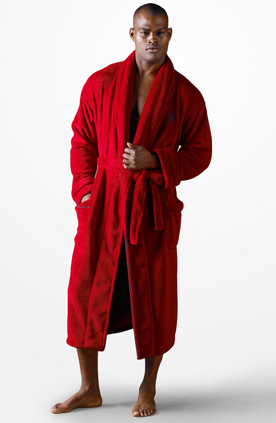 Polo ralph lauren Polo Logo Robe in Red for Men | Lyst