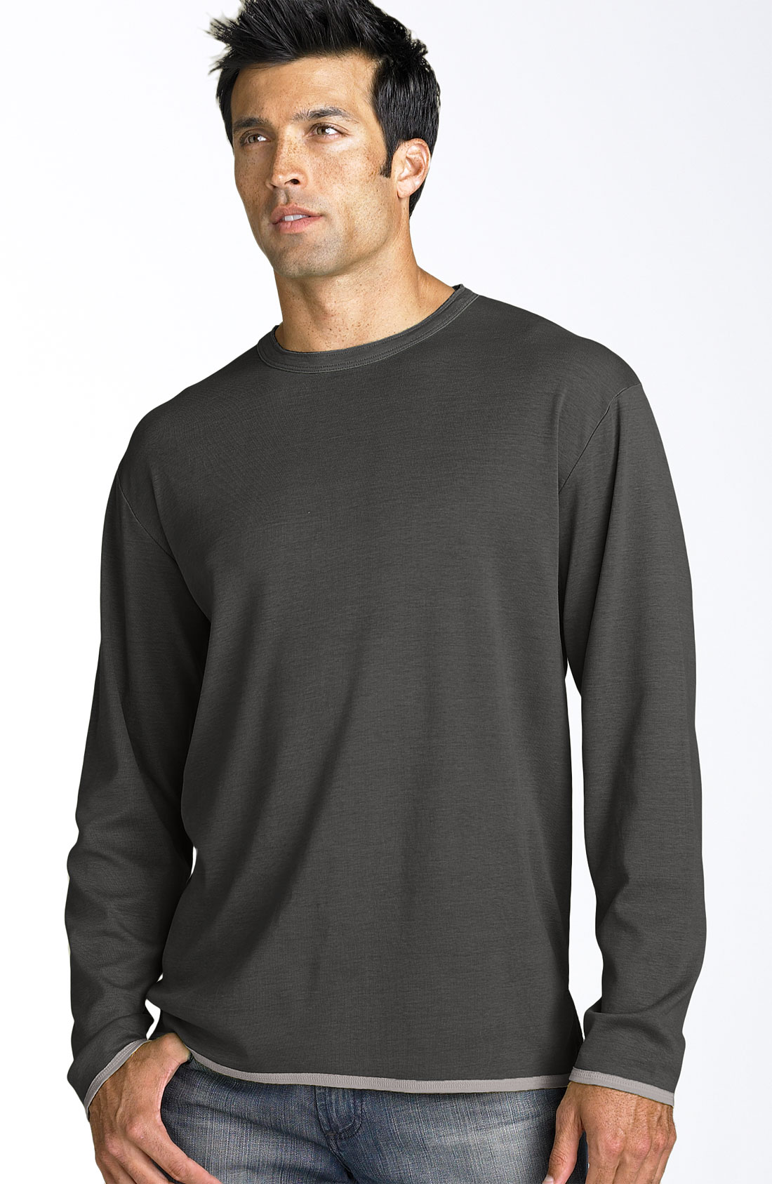 Tommy Bahama Dual In The Sun Long Sleeve Shirt In Black
