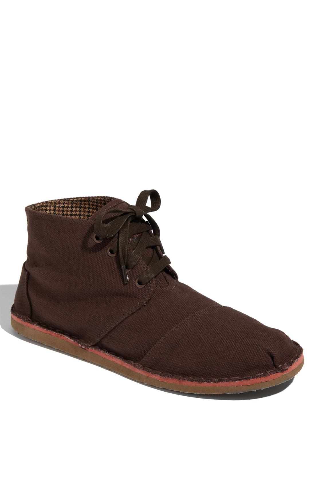 toms desert botas chukka boot in brown for lyst