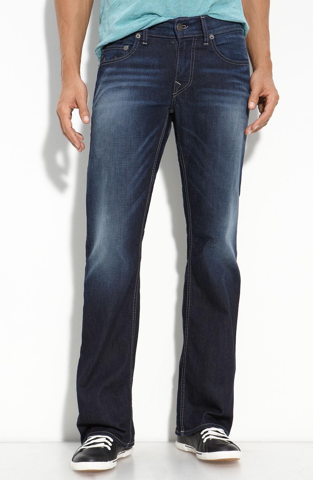 true religion danny bootcut jeans in blue for men. Black Bedroom Furniture Sets. Home Design Ideas
