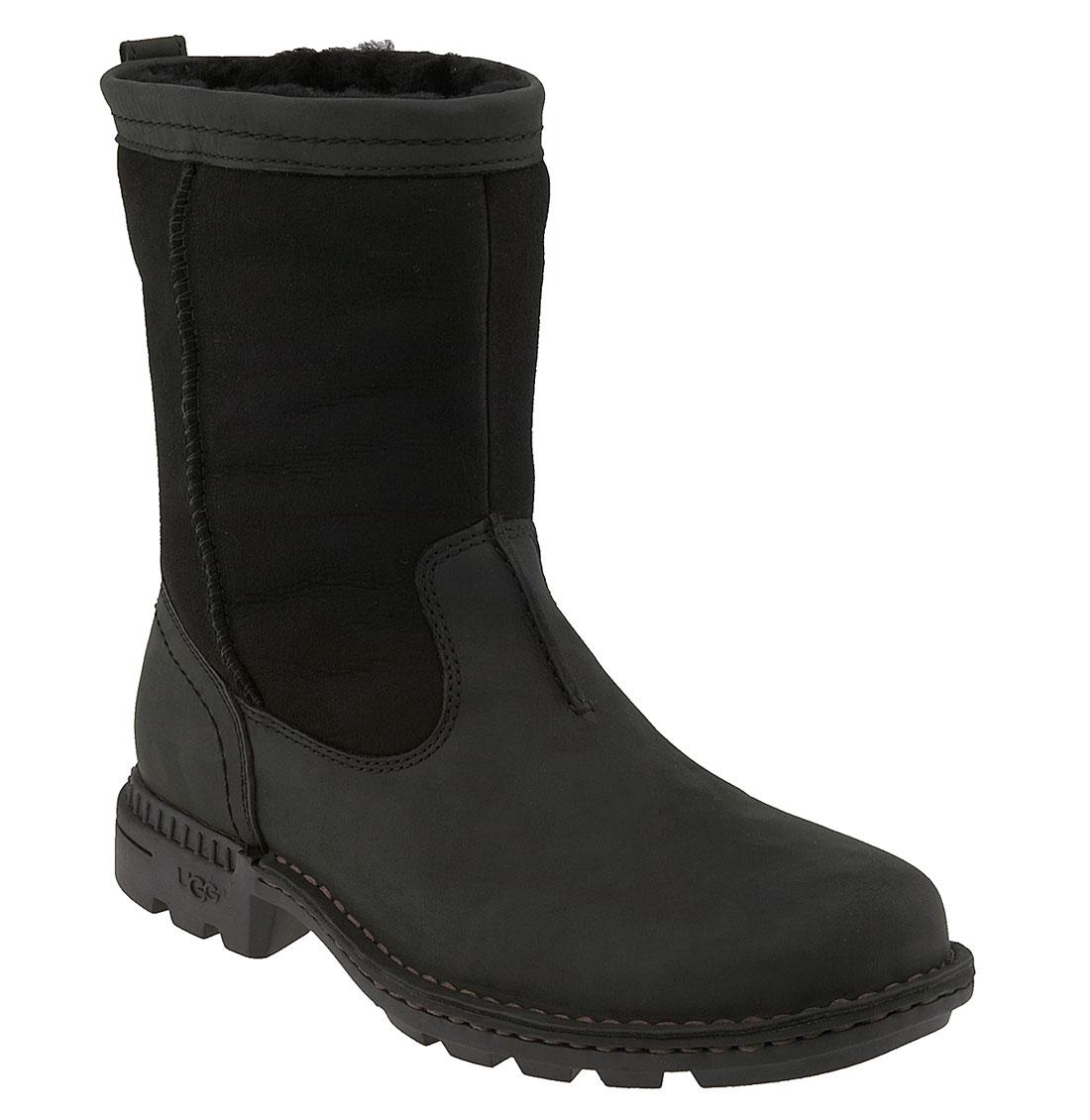 ugg australia hartsville boot in black for lyst