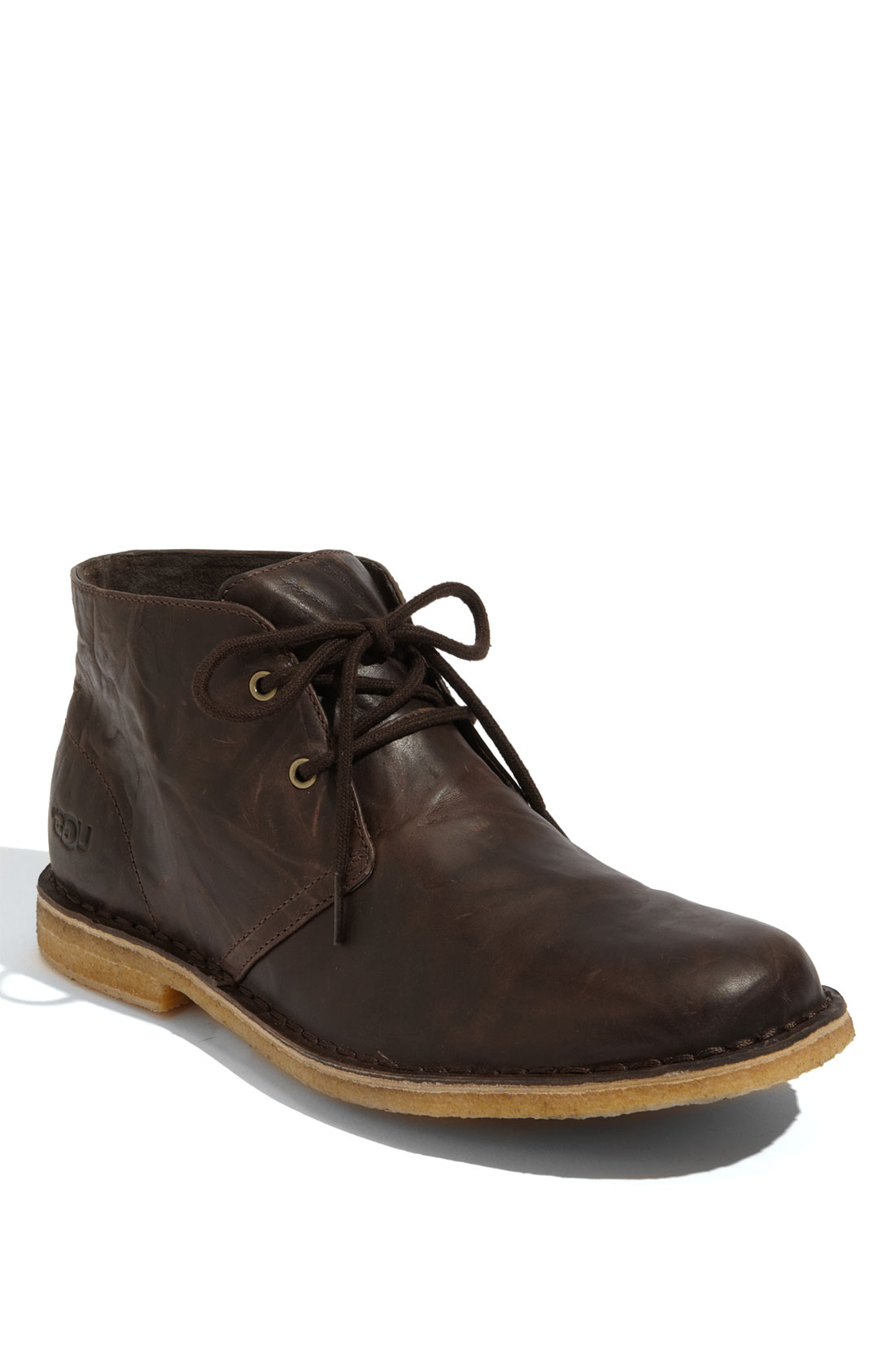 ugg leighton chukka boot in brown for chocolate lyst