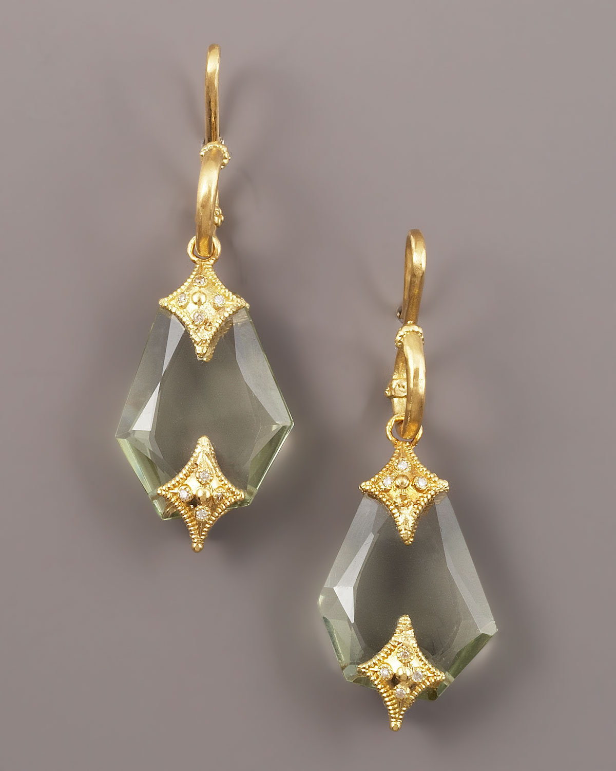 mercaldo earrings amethyst jewelry gold green michele