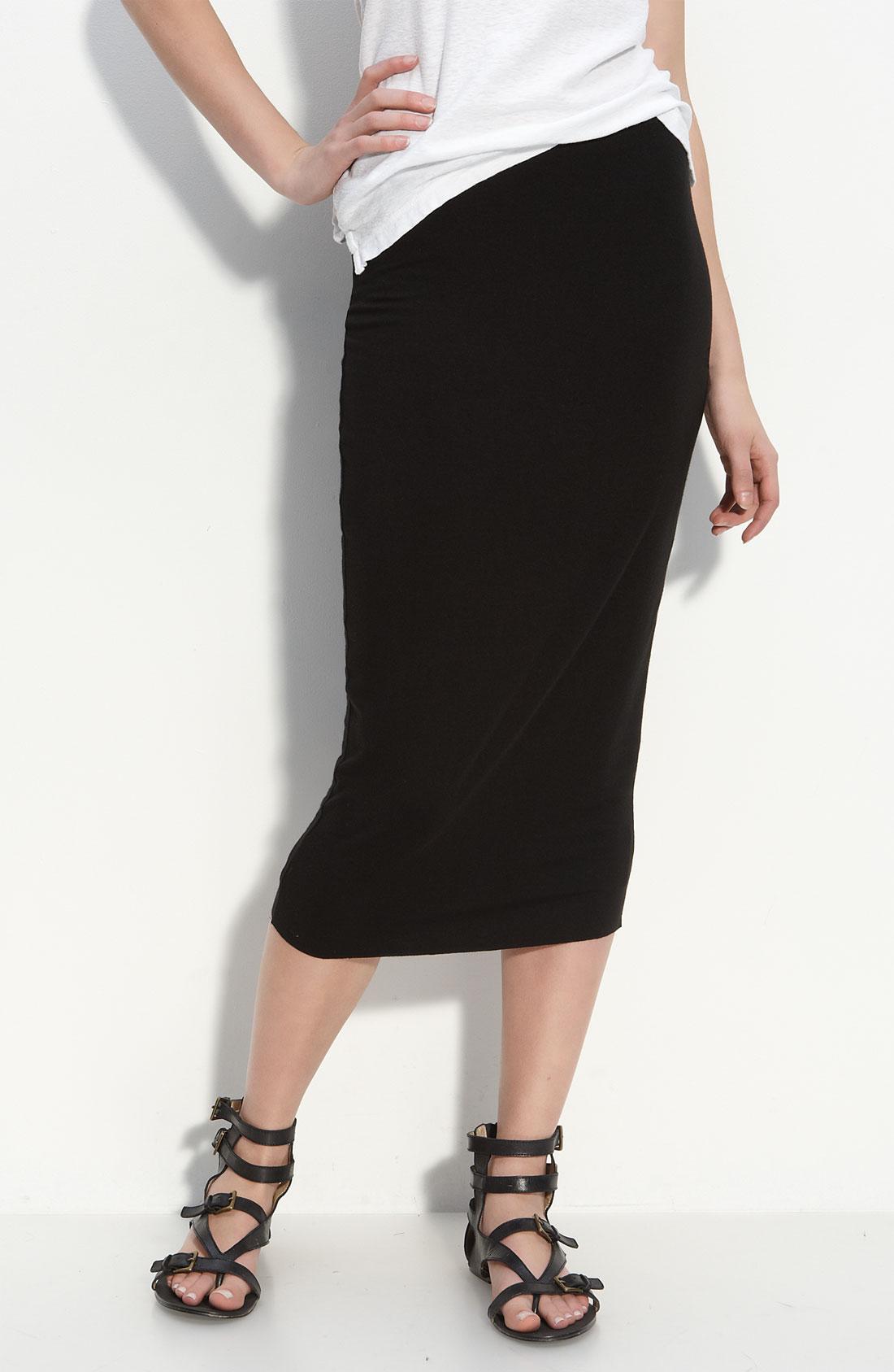 Bailey 44 Knit Midi Skirt in Black | Lyst