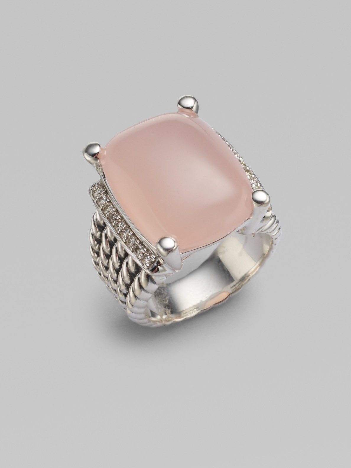 david yurman pink opal sterling silver ring in