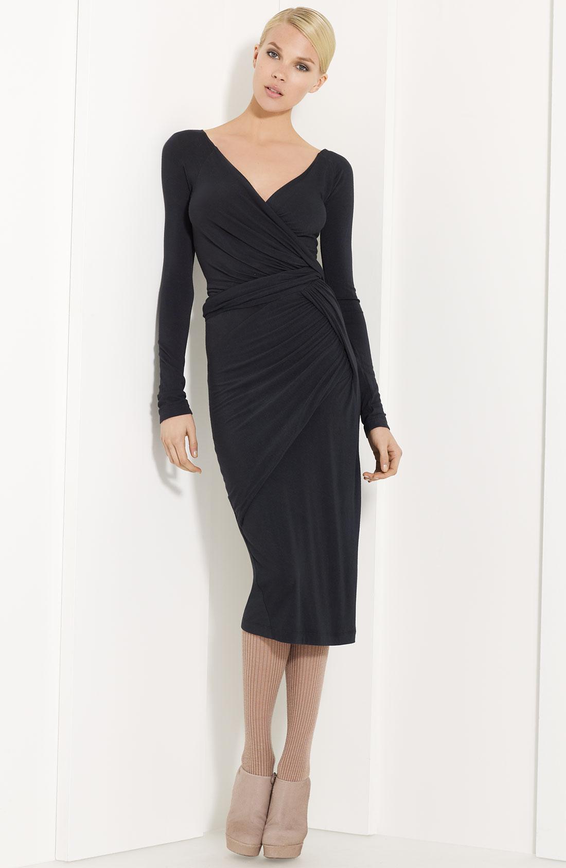 Donna karan new york collection draped jersey dress in for Donna karan new york