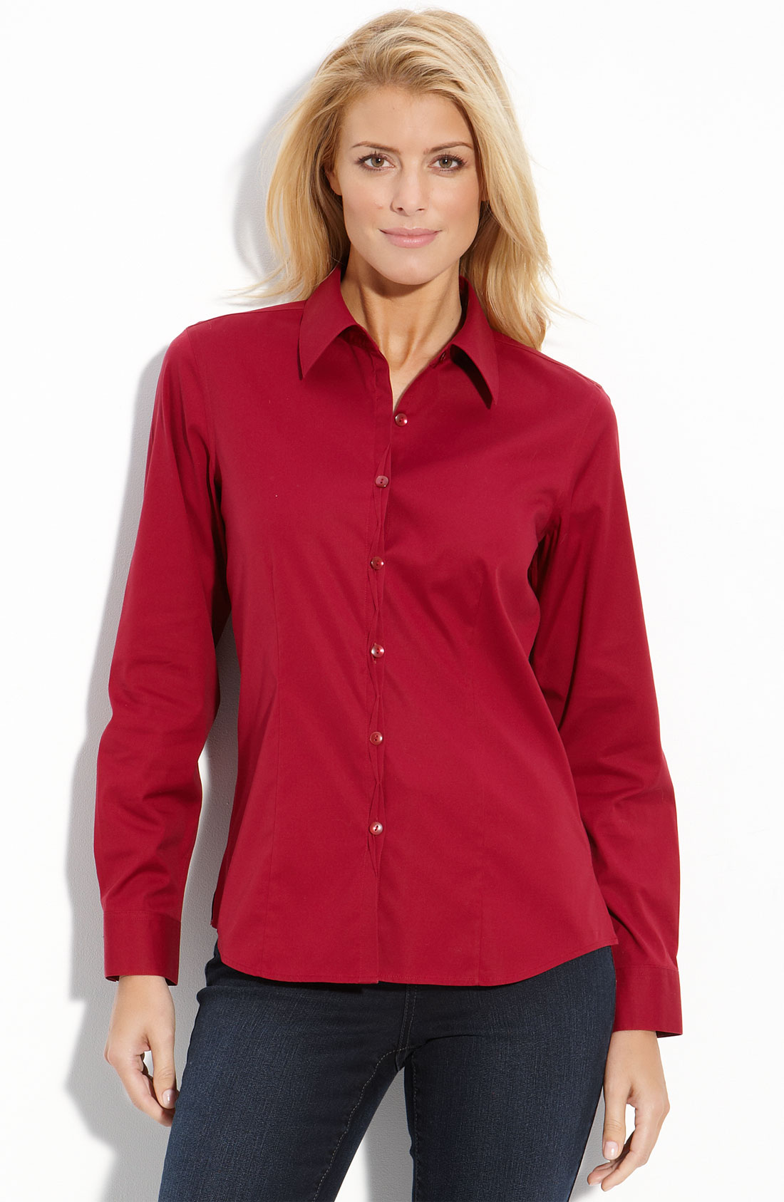 Foxcroft Womens Blouses Long Blouse With Pants