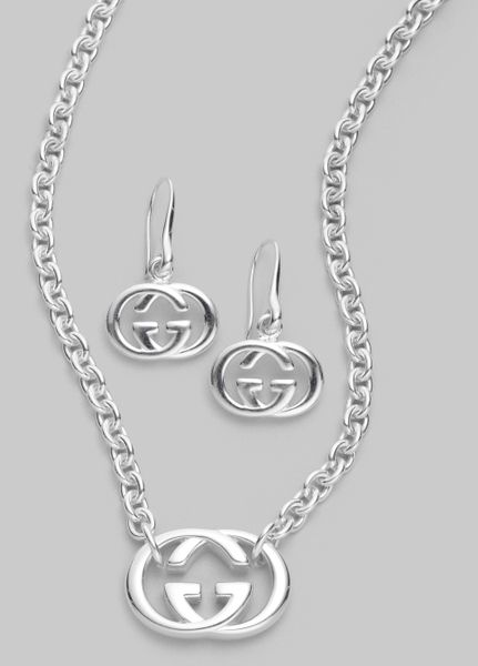 9257128805d Gucci Sterling Silver Britt Collection Double G Necklace