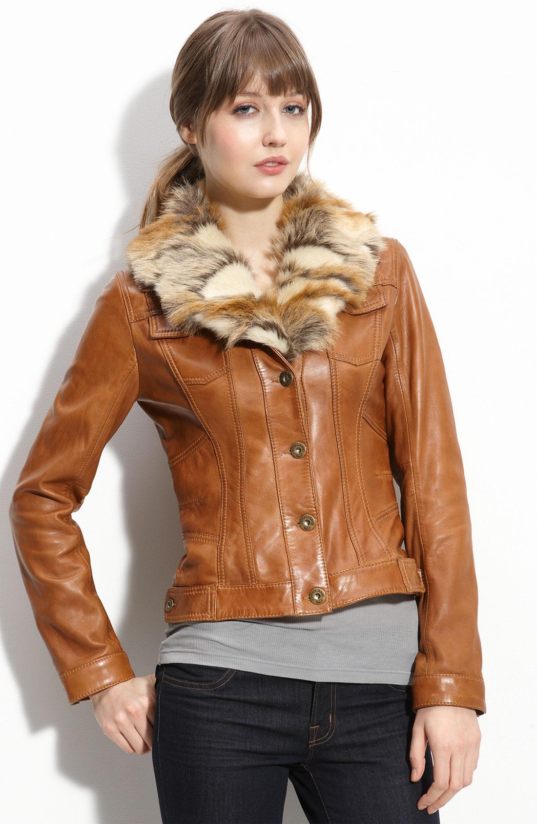 Etcetera Women's Size 4 Beautiful Brown Faux Fur Jacket Short Sleeve American Rag Cie Brown Faux Leather Faux Fur Collar Jacket Women's XS. American Rag Cie · Size (Women's):XS · Faux Leather. $ or Best Offer. Free Shipping. Winter Warm Fluffy Coat Faux Fur Jacket Outerwear Sweater Coat Fashion Women's.