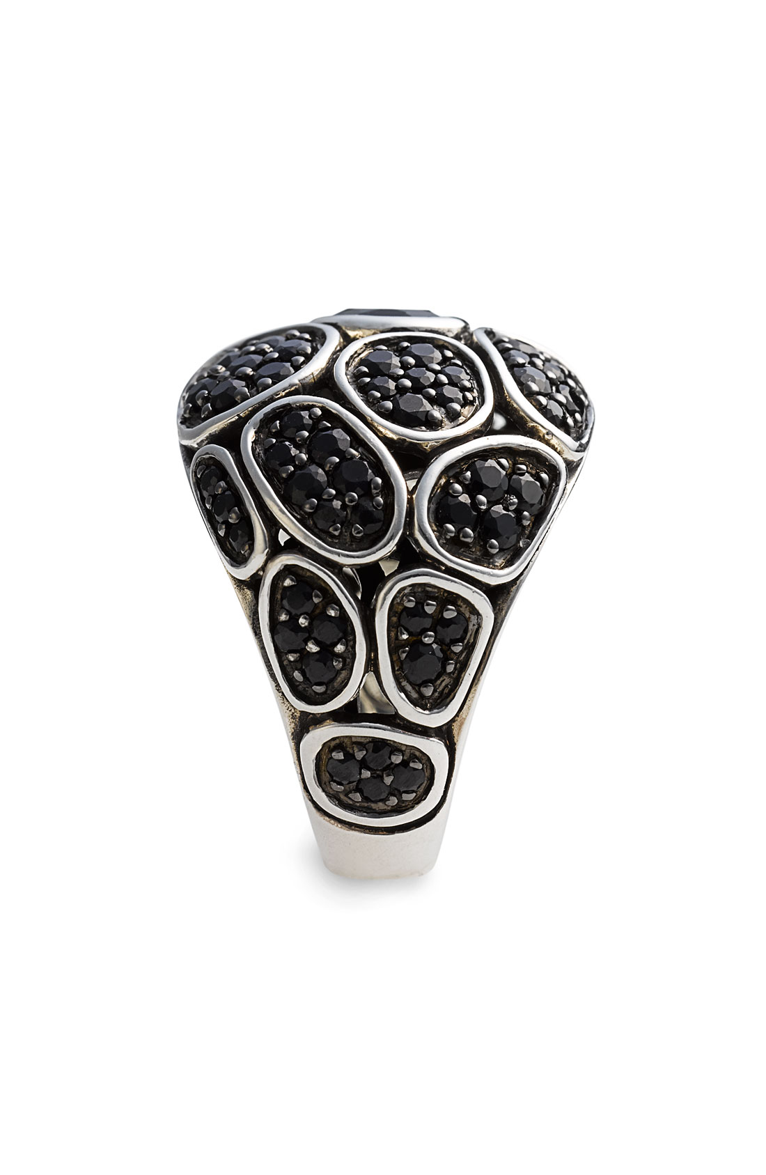 John hardy kali silver dome ring in silver black for John hardy jewelry factory bali