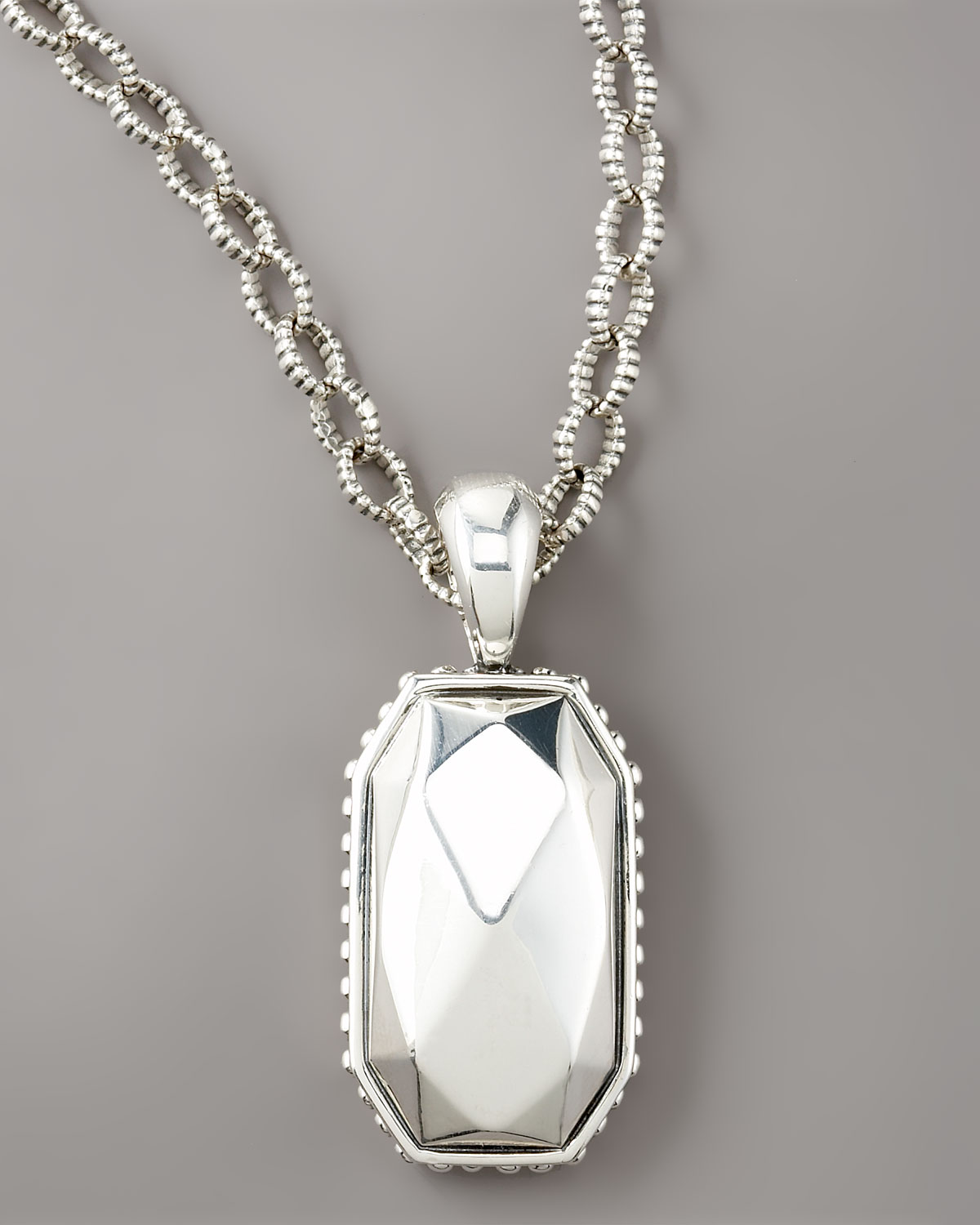 Lyst lagos rock pendant necklace in metallic gallery mozeypictures Images