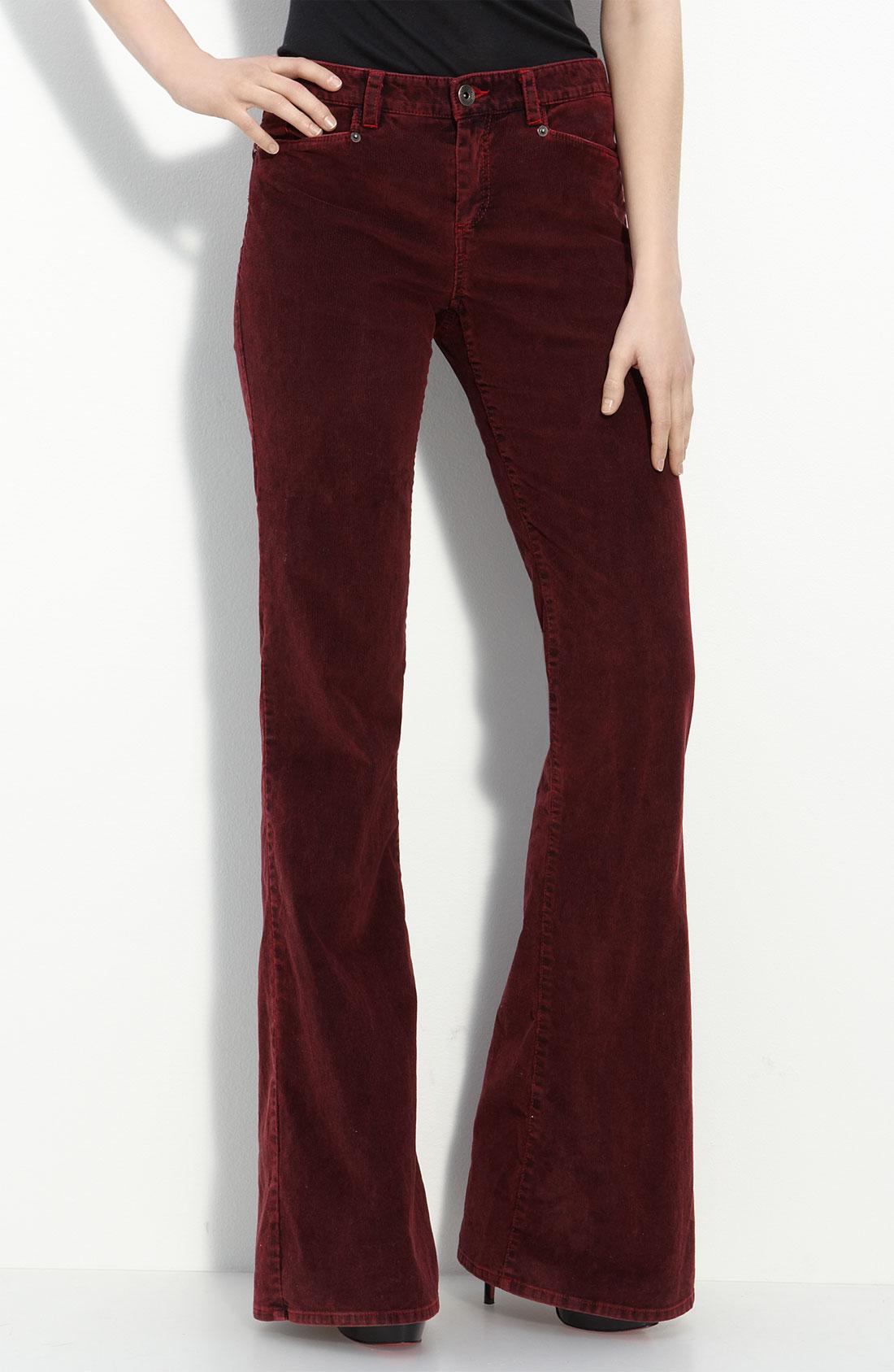 wide leg corduroy pants - Pi Pants