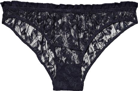 Rituel By Carine Gilson Natalia Lace Briefs in Blue (midnight)