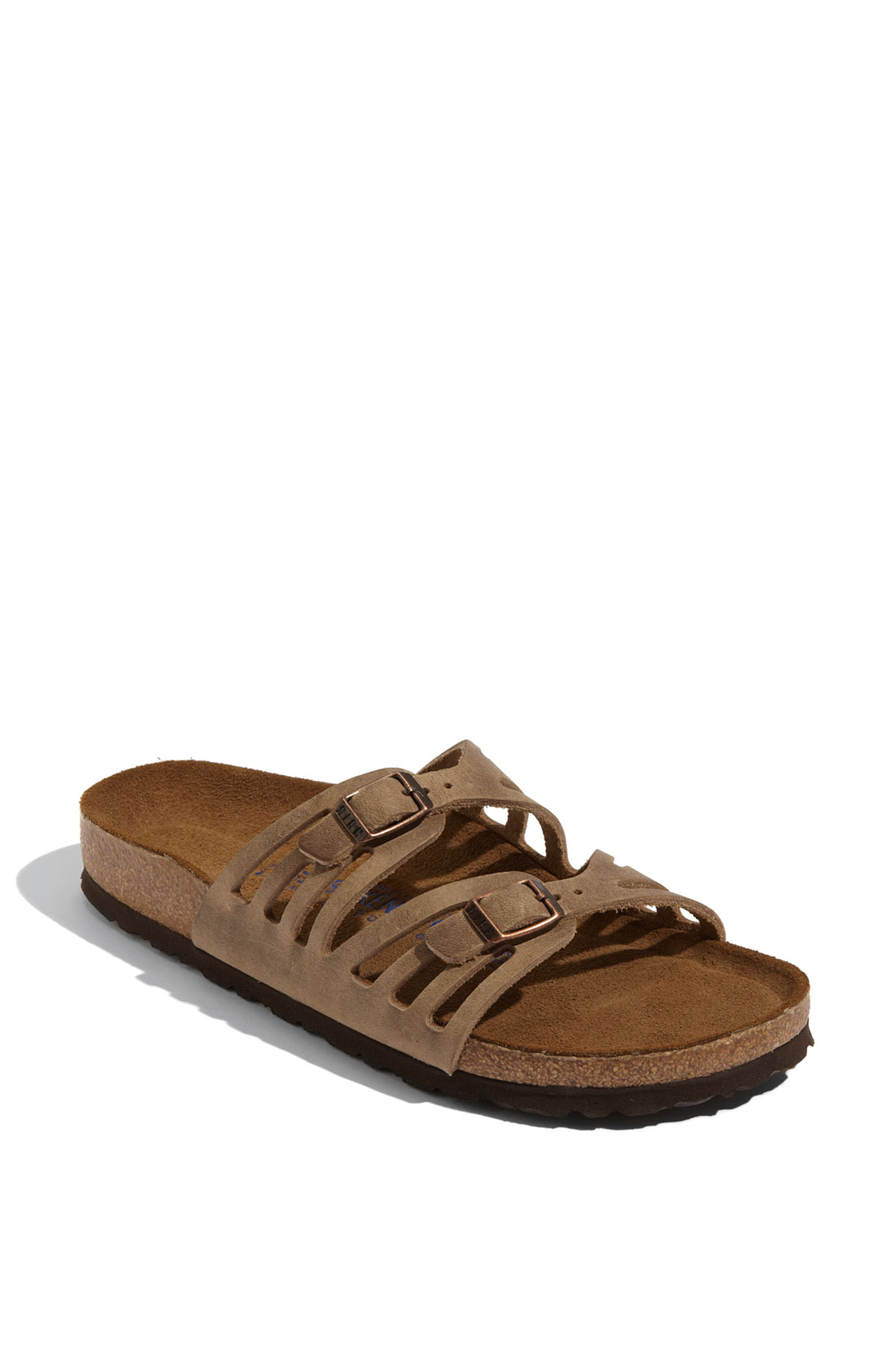 Birkenstock 'granada' Soft Footbed Oiled Leather Sandal in Brown (tobacco) | Lyst