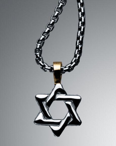 David yurman cable classics star of david necklace in for Star of david necklace mens jewelry