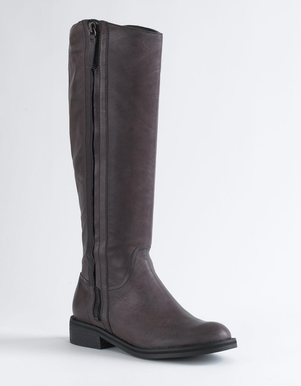 enzo angiolini skyland leather boots in black black