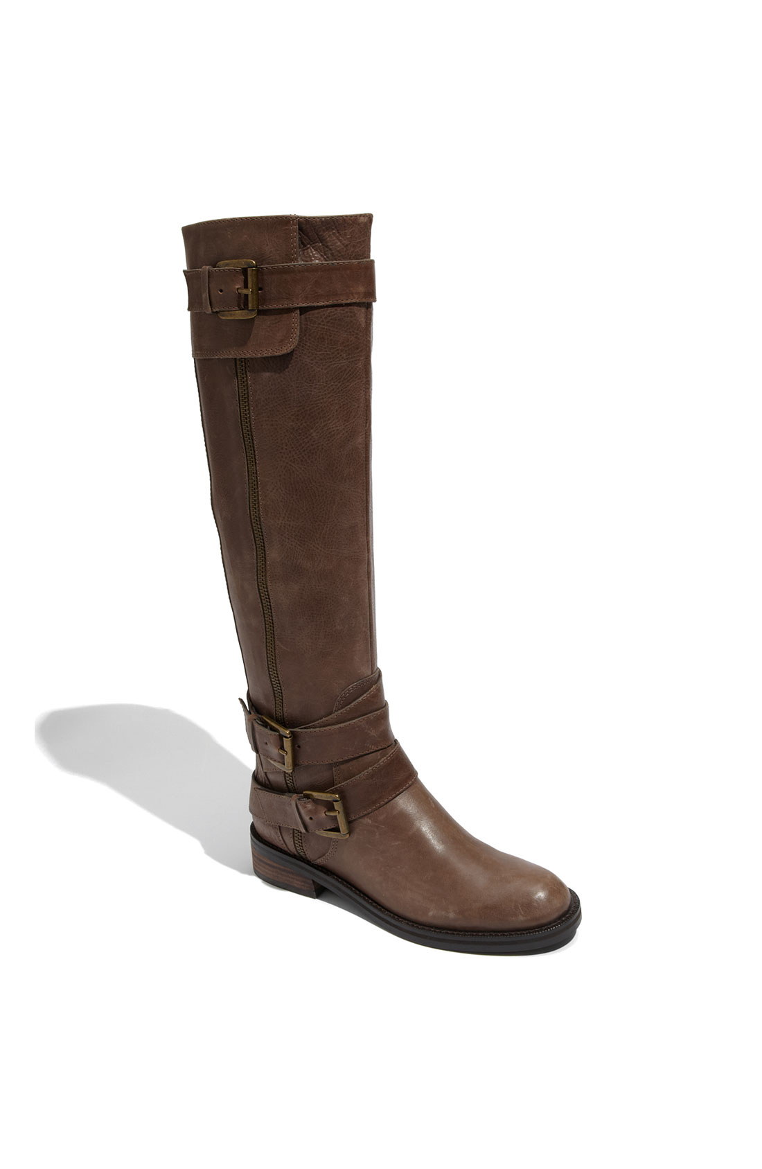 enzo angiolini saylem boot in brown taupe leather
