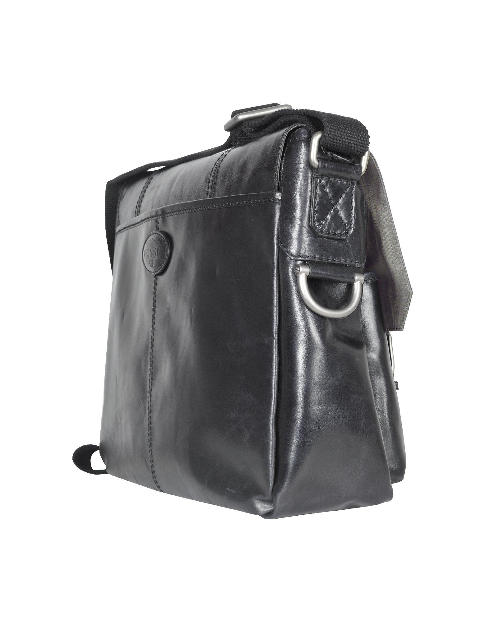 Fossil Dayton - Leather Messenger Bag in Black (Brown) for ...