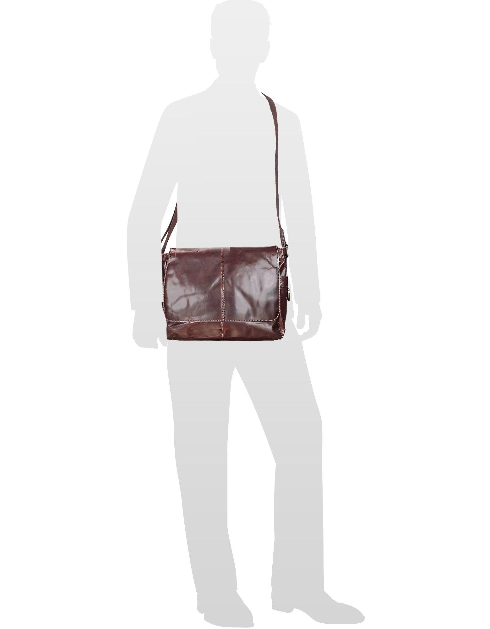 Jackson Ew Leather Laptop Messenger Bag