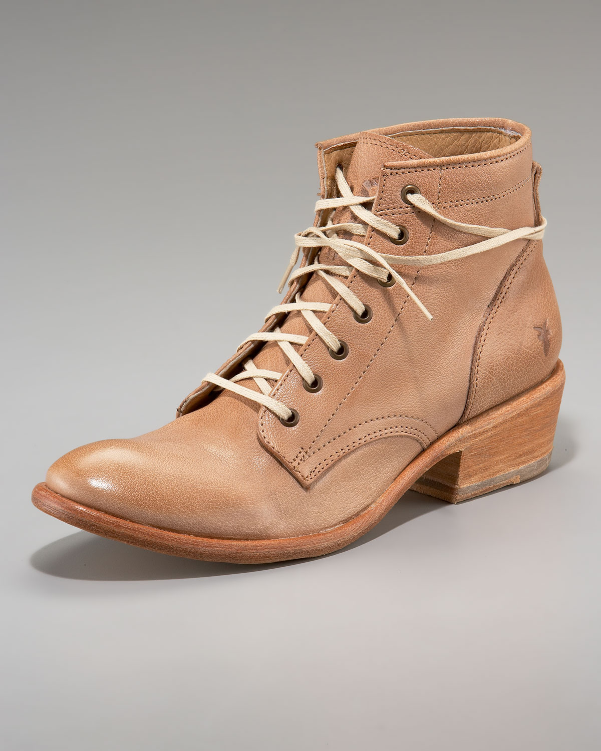 3fadaee9782 Frye Brown Carson Lace-up Ankle Boot