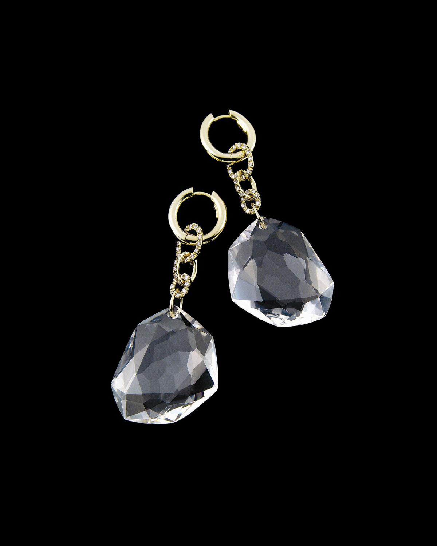 Lyst H Stern Dvf Rock Crystal Quartz Earrings In White