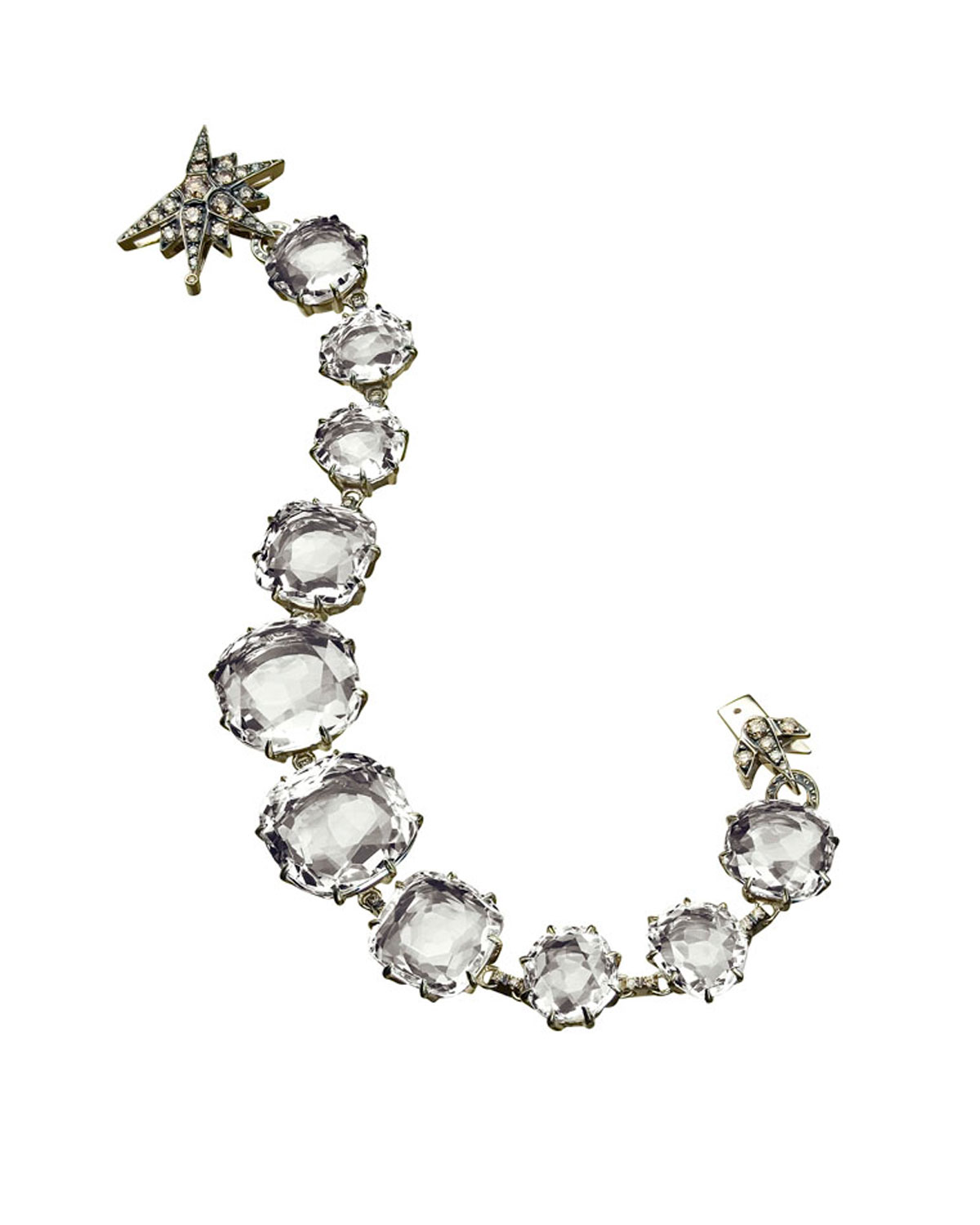 Lyst H Stern Moonlight Rock Crystal Bracelet In Metallic