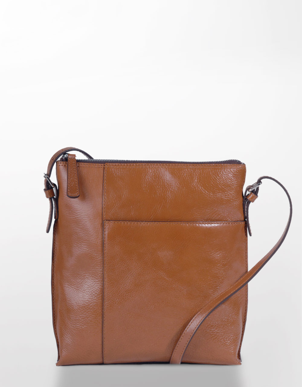 Hobo international Alessa Leather Cross-Body Bag in Brown | Lyst