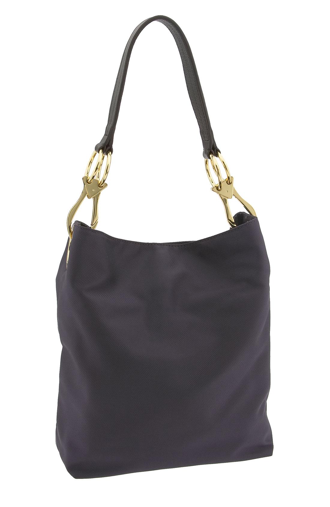 jpk paris nylon bucket bag with chunky hardware in purple eggplant lyst. Black Bedroom Furniture Sets. Home Design Ideas