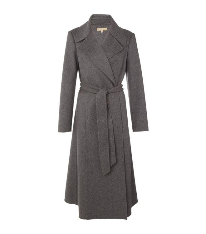 Michael Kors Wool Belted Coat In Gray Grey Lyst