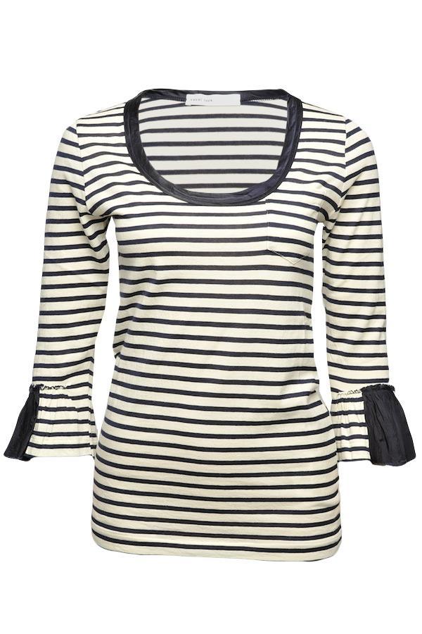 sacai striped ruffle