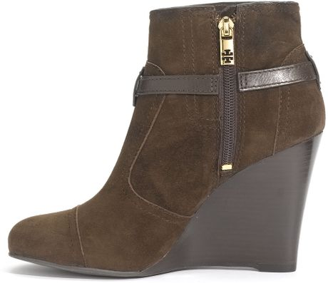 Tory Burch Aaden Wedge Boots In Brown Coconut Lyst