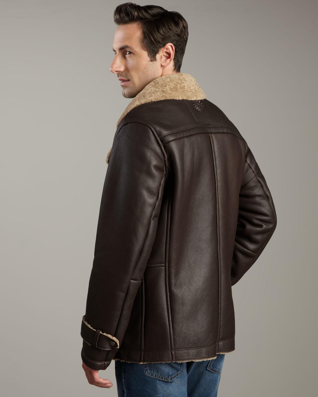 ugg shearling coat mens
