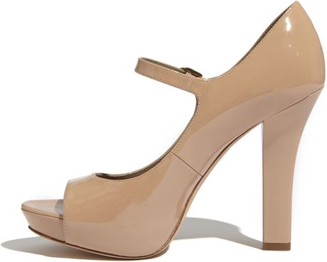 Via Spiga Opentoe Mary Jane Pump In Beige Nude Lyst