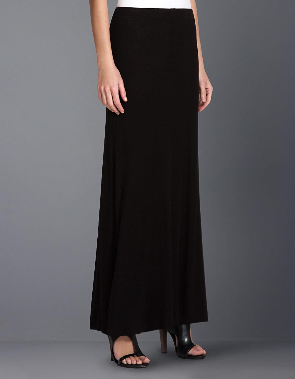 bcbgmaxazria knit maxi skirt in black lyst